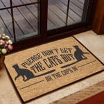 Lovers  Door Mat Please Dont Let The Cats Out