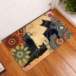 Amazing Black Cat Doormat  Welcome Mat
