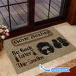 Gone boxing Funny Outdoor Indoor Wellcome Doormat
