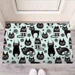 Cute Black Cat Print Funny Outdoor Indoor Wellcome Funny Outdoor Indoor Wellcome Doormat