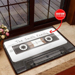 Black Cassette Personalized All Over Printing Funny Outdoor Indoor Wellcome Doormat