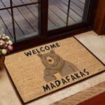 Bear Doormat Welcome Madafakas  Welcome Mat  House Warming Gift