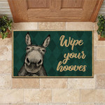 Donkey Doormat Wipe Your Hooves  Welcome Mat  House Warming Gift