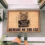 Bad Cat Funny Outdoor Indoor Wellcome Doormat
