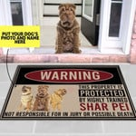 Customized Highly trained sharpei Dog Funny Outdoor Indoor Wellcome Doormat