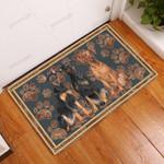 German Pinscher Flower Paw - Dog Doormat  Welcome Mat