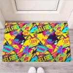 Abstract Comic Bubble Graffiti Print Funny Outdoor Indoor Wellcome Funny Outdoor Indoor Wellcome Doormat