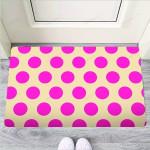 Cream And Pink Polka Dot Funny Outdoor Indoor Wellcome Funny Outdoor Indoor Wellcome Doormat