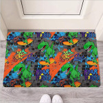 Dinosaur T-rex Graffiti Print Funny Outdoor Indoor Wellcome Funny Outdoor Indoor Wellcome Doormat