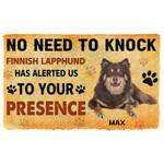 Gearhuman 3D No Need To Knock Finnish Lapphund Dog Custom Name Doormat