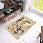 Hope You Brought Beer And Beagle Treats Funny Outdoor Indoor Wellcome Doormat