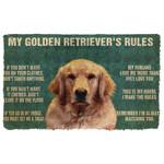 Gearhuman 3D My Golden Retrievers Rules Doormat