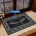 Bareback Bronc - Black Version Funny Outdoor Indoor Wellcome Doormat