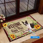 Boston Terrier Happy Place Funny Outdoor Indoor Wellcome Doormat