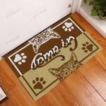 Cat Come In Go Away Doormat  Welcome Mat