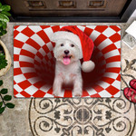 Door Mat West Highland Terrier Christmas
