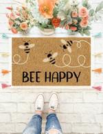 Bee Happy - Doormat  Welcome Mat