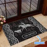 Calf Roping Black Funny Outdoor Indoor Wellcome Doormat