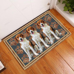 American Foxhound Flower Paw - Dog Doormat  Welcome Mat