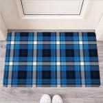 Blue Plaid Tartan Scottish Funny Outdoor Indoor Wellcome Funny Outdoor Indoor Wellcome Doormat