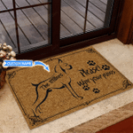 Boxer - Wipe your paws Funny Outdoor Indoor Wellcome Doormat