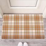Beige Plaid Tartan Print Funny Outdoor Indoor Wellcome Funny Outdoor Indoor Wellcome Doormat