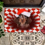 Dachshund Christmas - Dog Doormat  Welcome Mat  House Warming Gift