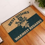 Best Wishes Warmest Regards Doormat  Welcome Mat  House Warming Gift