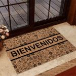 Bienvenidos Puerto Rico Pattern Funny Outdoor Indoor Wellcome Doormat