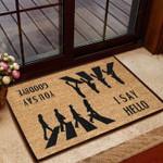 Hello Goodbye Funny Outdoor Indoor Wellcome Doormat
