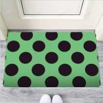 Green And Black Polka Dot Funny Outdoor Indoor Wellcome Funny Outdoor Indoor Wellcome Doormat