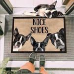 Boston Terriers Dog Funny Outdoor Indoor Wellcome Doormat