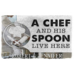 3D A Chef And His Spoon Live Here Custom Name Doormat