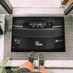 Camera Canon 50mm Lens Funny Outdoor Indoor Wellcome Doormat