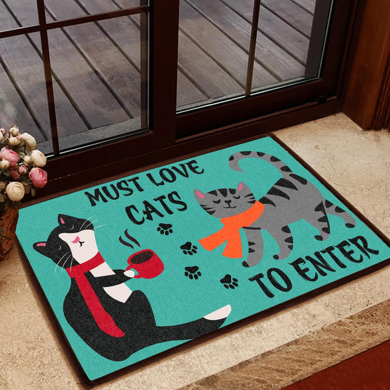 Cat Lovers Door mat Must Love Cats To Enter