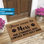 Custom Funny Outdoor Indoor Wellcome Doormat Dog Funny Outdoor Indoor Wellcome Doormat