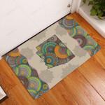 Awesome Arizona Mandala Doormat  Welcome Mat