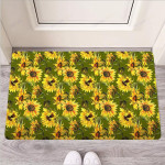 Botanical Sunflower Funny Outdoor Indoor Wellcome Funny Outdoor Indoor Wellcome Doormat