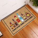 Come Over When Youre Sober - Wine Doormat  Welcome Mat  House Warming Gift
