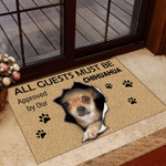 All Guests Must Be Approved By Our Chihuahua 3D Doormat Creative Designs Gifts For Dog Owners