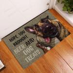 Drunk Dog Hope You Brought Beer Doormat  Welcome Mat