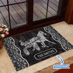 Harness Racing Black Funny Outdoor Indoor Wellcome Doormat