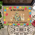 Rabbit Lovers  Door Mat - In This House