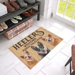 Heelers Welcome People Tolerated Funny Outdoor Indoor Wellcome Doormat
