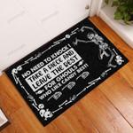 Halloween Skull Trick-Or-Treat Avoid Doormat  Welcome Mat  House Warming Gift