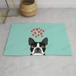 Boston Terrier - Hearts Cute Funny Dog Cute Valentines Dog Pet Cute Animal Dog Love Funny Outdoor Indoor Wellcome Doormat