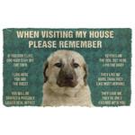 3D Please Remember Anatolian Shepherd Dogs House Rules Custom Doormat