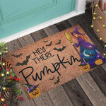 Hey there pumpkin Witch Doormat  Welcome Mat