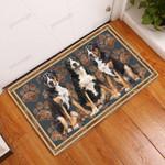 Greater Swiss Mountain Dog Flower Paw - Dog Doormat  Welcome Mat