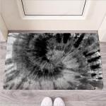 Black Tie Dye Funny Outdoor Indoor Wellcome Funny Outdoor Indoor Wellcome Doormat